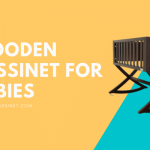 Wooden Bassinets for Babies - Solid White Co sleeper Bassinet & Cradle