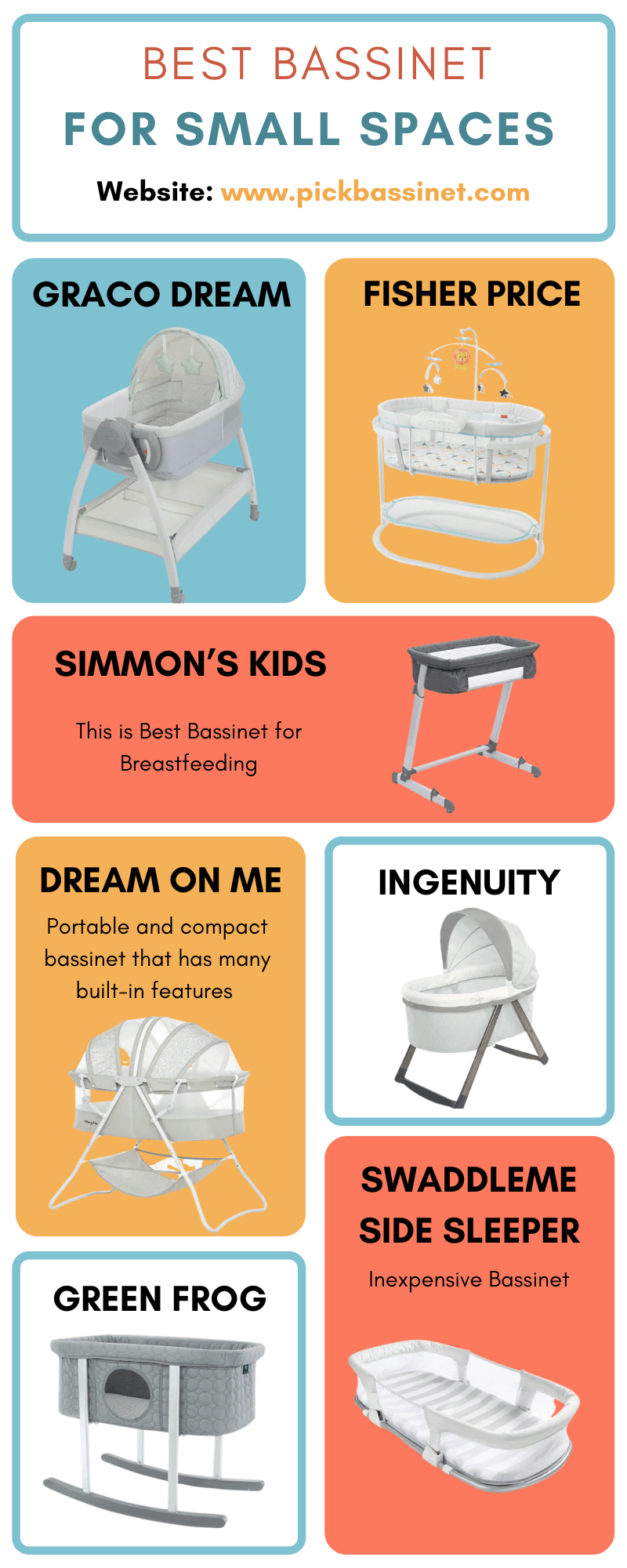 Best Bassinet for Small Spaces Infographic