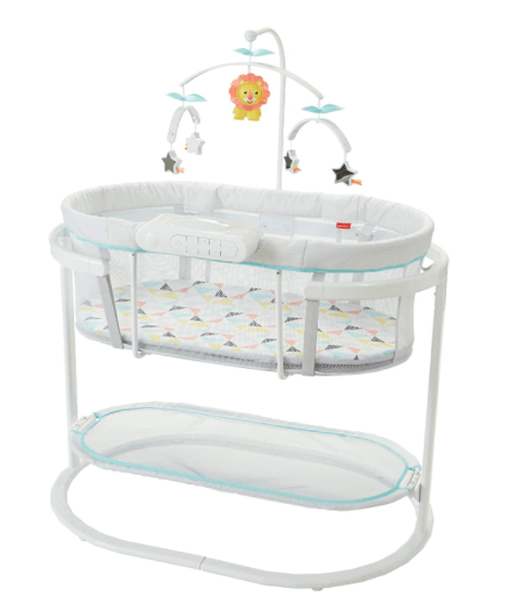 This image has an empty alt attribute; its file name is Fisher-Price-Soothing-Motions-Bassinet.png